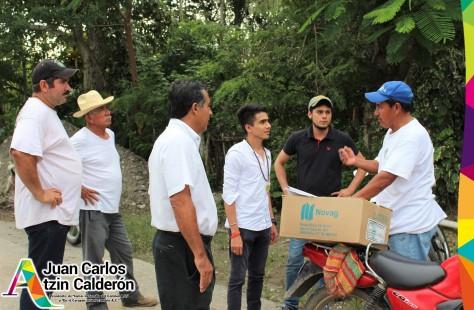 Recorrido de Atzin por zona inundada de Tecolutla Septiembre 2017